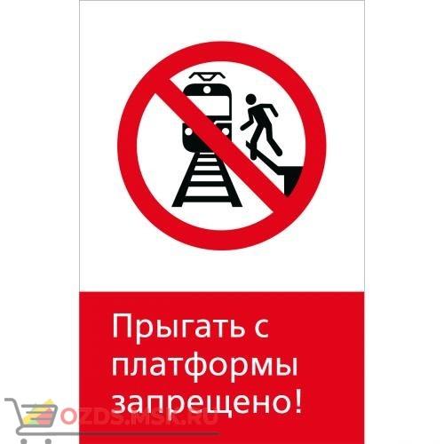 Знак 5.1.6.01 Прыгать с платформы запрещено! (Пластик 450 x 700)