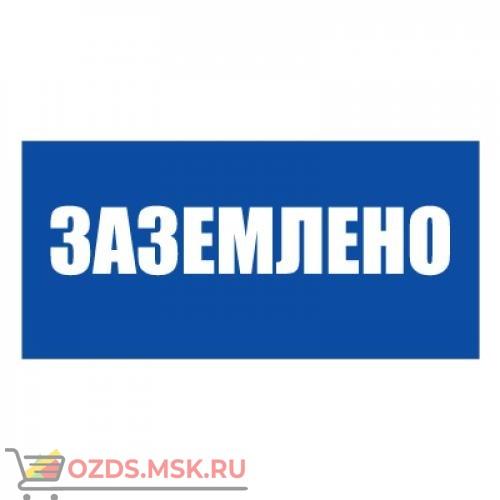 Плакат указательный №13-T04 Заземлено СО 153-34.03.603-2003 (Пластик 100 х 200)