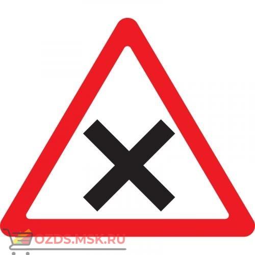 Дорожный знак 1.6 Пересечение равнозначных дорог (A=900) Тип Б