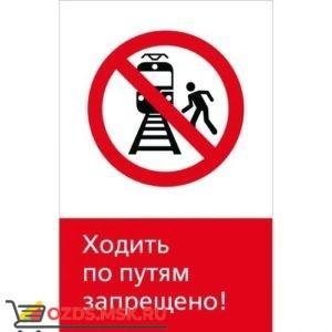 Знак 5.1.6.02 Ходить по путям запрещено! (Пластик 450 x 700)
