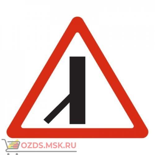 Дорожный знак 2.3.7 Примыкание второстепенной дороги (A=900) Тип А