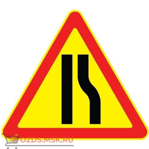 Дорожный знак 1.20.2 Сужение дороги (Временный A=900) Тип А с лева на право