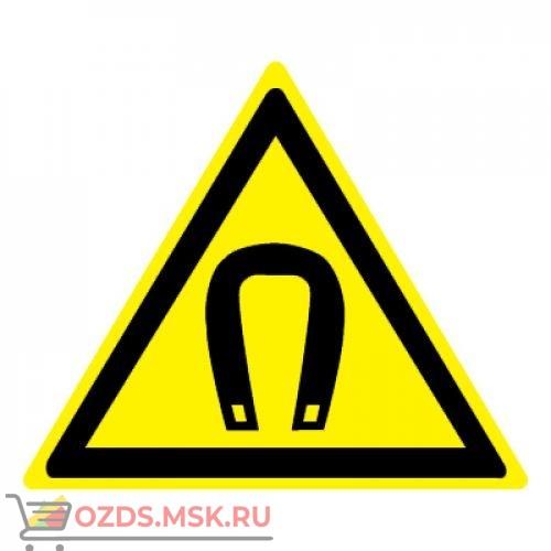 Знак W13 Внимание. Магнитное поле •ГОСТ 12.4.026-2015• (Пленка 200 х 200)