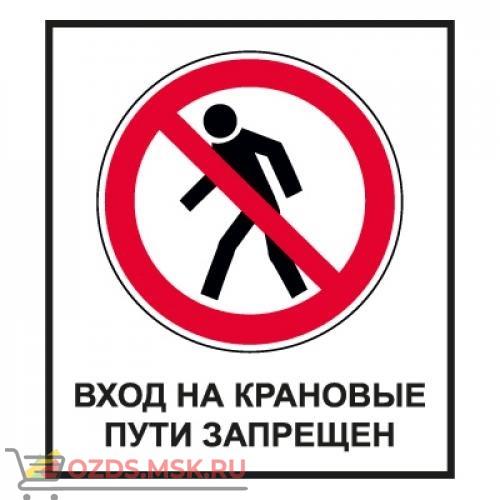 Знак CT29 Вход на крановые пути запрещен (Пленка 1000 х 700)