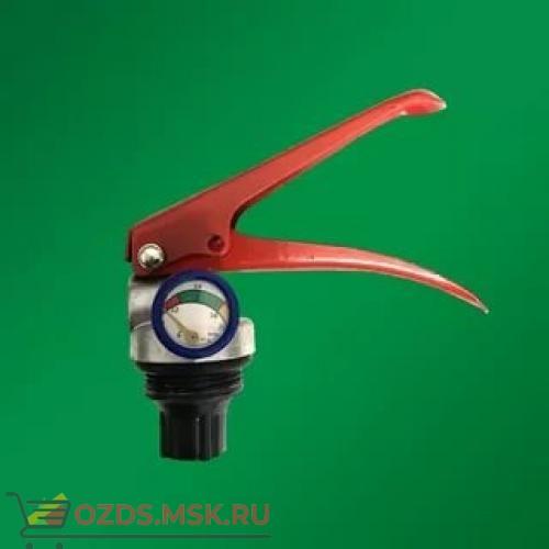Запорно-пусковое устройство (ЗПУ) к огнетушителям (ОП-2) с манометром (М-24х1,5, М10х1,5), алюминий