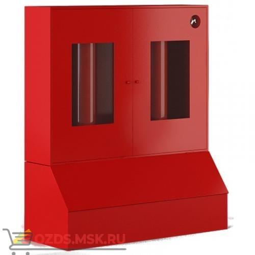 Стенд металлический серий Т закрытого типа с окнами, с ящиками для песка 0,5 м.куб.