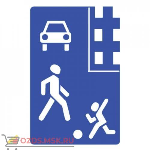 Дорожный знак 5.21 Жилая зона (900 x 600) Тип Б