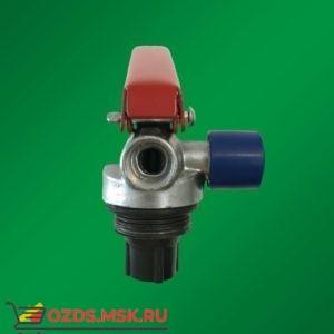 Запорно-пусковое устройство (ЗПУ) к огнетушителям порошковым (ОП-2) с манометром (М-30х1,5), алюминий