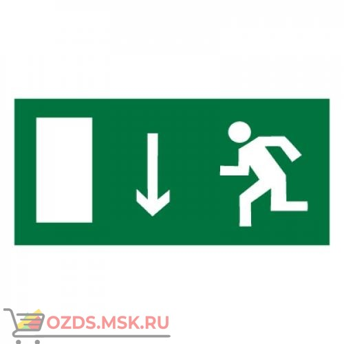 Знак E10 Указатель двери эвакуационного выхода (левосторонний) ГОСТ 12.4.026-2015 (Пленка 150 х 300)