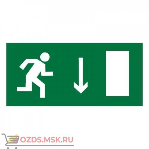 Знак E09 Указатель двери эвакуационного выхода (правосторонний) ГОСТ 12.4.026-2015 (Пленка 150 х 300)