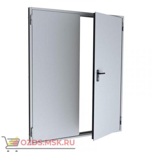 Дверь противопожарная равнопольная ДПМ-0260 (EI 60) (правая) 2650Х2130 с доводчиком и антипаникой планкой на обе створке (размер по коробке)