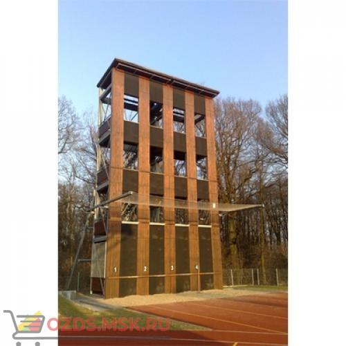 Учебно-тренировочная башня на 4 дорожки для занятий пожарно-прикладным спортом