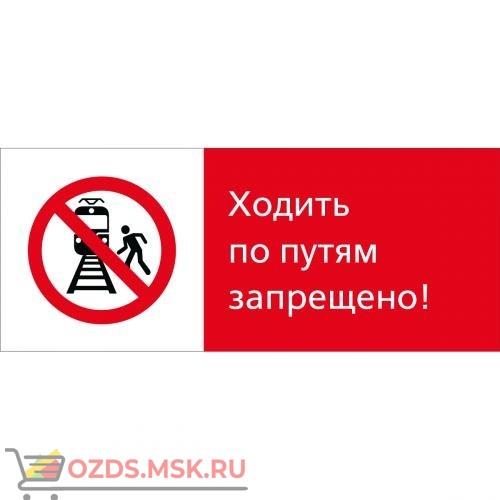 Знак 5.1.7.02 Ходить по путям запрещено! (Пластик 540 x 220)