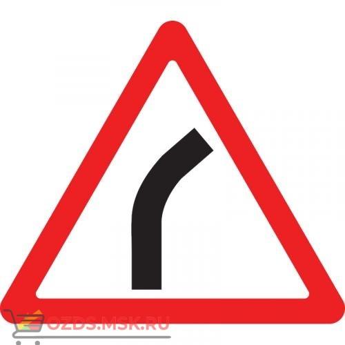 Дорожный знак 1.11.1 Опасный поворот (A=900) Тип А