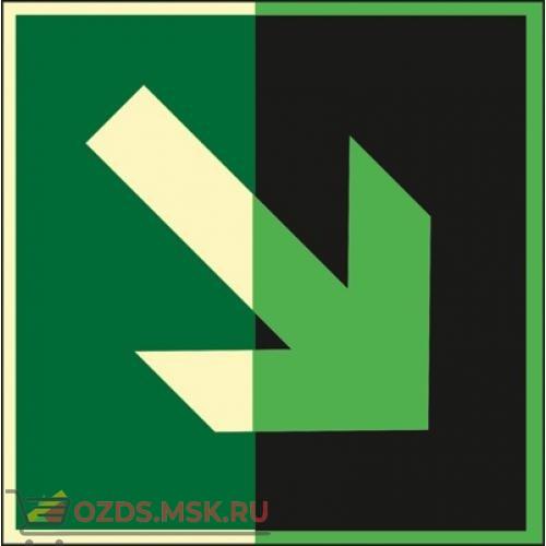 Знак E02-02 Направляющая стрелка под углом 45° (Фотолюминесцентный Пластик 200 x 200) Т2