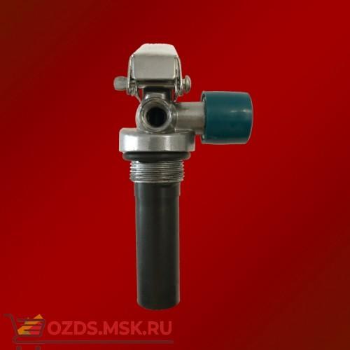 Запорно-пусковое устройство (ЗПУ) к огнетушителям порошковым (ОП-4) с манометром (М-30х1,5 М16х1,5), алюминий