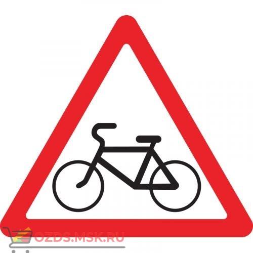 Дорожный знак 1.24 Пересечение с велосипедной дорожкой (A=900) Тип Б