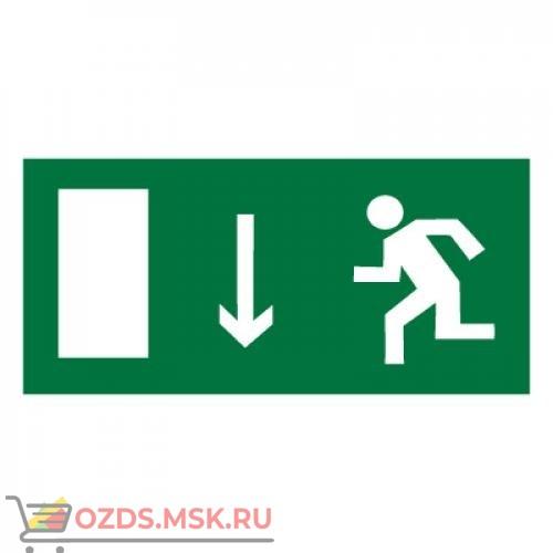 Знак E10 Указатель двери эвакуационного выхода (левосторонний) ГОСТ 12.4.026-2015 (Пластик 150 х 300)