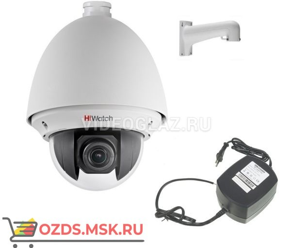 HiWatch Комплект Камера HiWatch DS-T255 + блок питания HKKD-13002 + настенный кронштейн DS-1602ZJ: Видеокамера AHDTVICVICVBS