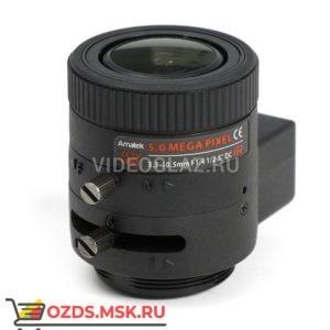 Amatek AVL-5M33105DIR: Объектив вариофокальный с АРД