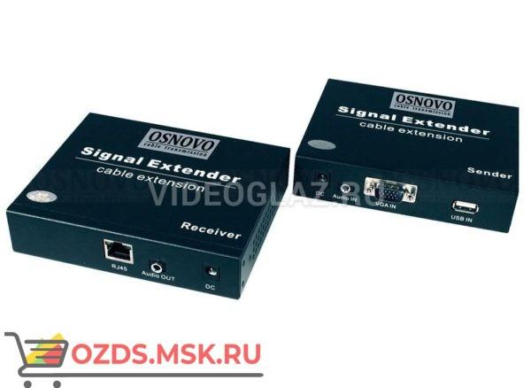 OSNOVO TLN-VKM1+RLN-VKM1: Передатчик видеосигнала по витой паре