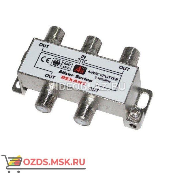 REXANT Делитель ТВ х 4 под F разъём 5-1000 МГц (05-6003): Разветвитель видеосигнала