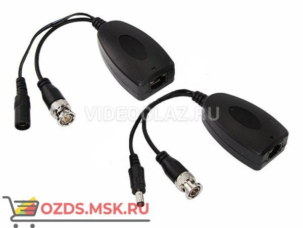REXANT Приемо-передатчик видео (BNC) + питание по витой паре (8P8C) (комплект 2 шт)(05-3091): Передатчик видеосигнала по витой паре