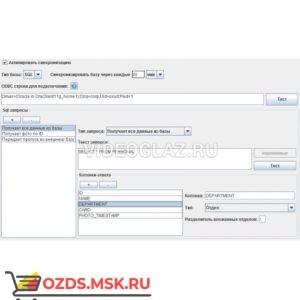 Sigur Дополнительный модуль ПО «Синхронизация данных»