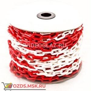 Цепь пластиковая красно-белая 6мм Цепной барьер