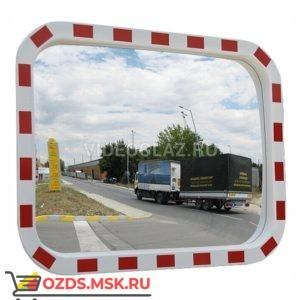 Зеркало 400x600 со световозвращающей окантовкой прямоугольное Дорожное зеркало