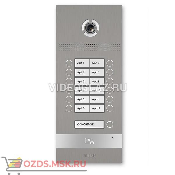 BAS-IP BI-12FB SILVER Вызывная панель IP-домофона