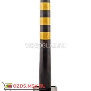 Столбик гибкий Черный 750мм с квадратным основанием Гибкий столбик