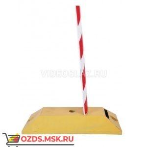 Делиниатор дорожный резиновый ДДР-610 с флажком. Пленка красная СВО. полосы Колесоотбойник