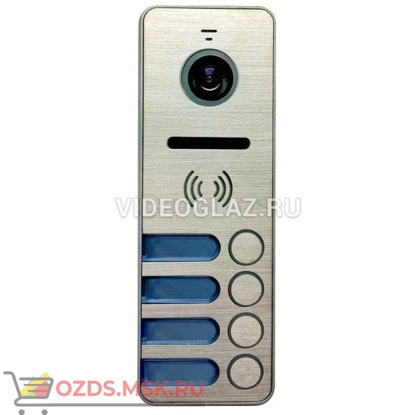 Tantos iPanel 2 Металл 4 абонента Вызывная панель видеодомофона