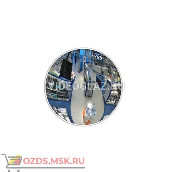DL Зеркало 430 мм с белым кантом Зеркало сферическое обзорное