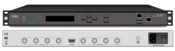 Цифровой ресивер FTA 8xDVB-S2 с IP выходом - DXP-8000D-S2 PBI