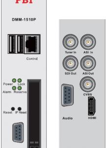 Эфирный/кабельный приемник IRD HD/SD с ASI/MUX - DMM-1510P-30T2/C PBI