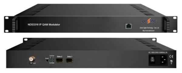 IP-QAM модулятор на 16 TS с MUX/SCR  - NDS3316 Dexing