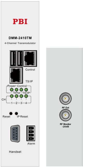 IP/QAM трансмодулятор счетверенный - DMM-2410TM-30IC PBI