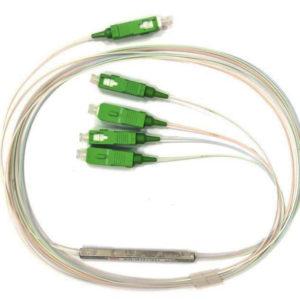 Ответвитель оптический 1х4, PLC, SM, равномерный, 1310/1550нм, 1м, 0.9мм, SC/APC