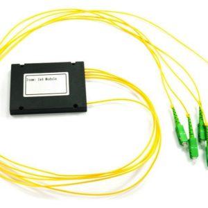 Ответвитель оптический 1х4, PLC, SM, равномерный, 1310/1550нм, 1м, 3.0мм