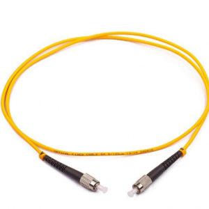 Патчкорд оптический прямой FC/APC-FC/APC, SM, Simplex, 1м, 3.0мм