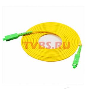 Патчкорд оптический прямой SC/APC - SC/APC, SM, Simplex, 10м, 3.0мм