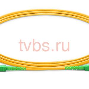 Патчкорд оптический прямой SC/APC - SC/APC, SM, Simplex, 3м, 3.0мм