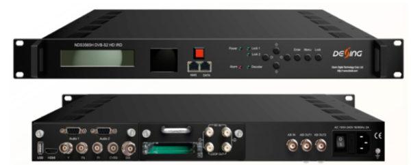 Приемник 2xDVB-S2/2xCI -> декодер HDMI&SDI&CVBS/IP/ASI - NDS3565H Dexing