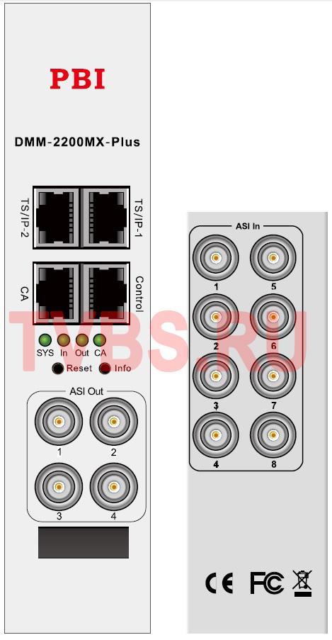 Ремультиплексор 4-х канальный с ASI/IP - DMM-2200MX-Plus PBI