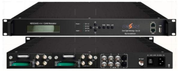 Трансмодулятор 4xDVB-S2/4xCI/6xASI в 4xQAM c MUX/SCR - NDS3343CI Dexing