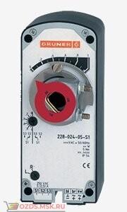 Электропривод GRUNER 341C-024D-03 с возвратной пружиной